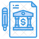Loan Agreement Bank Icon