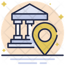Bank Location Bank Business Icon