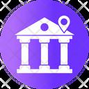 Bank Location Building Money Icon