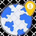 Bank Location Dollar Location Bank Direction Icon