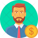 Bank Manager Business Icon