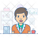 Bank Manager Administrator Supervisor Icon