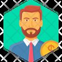 Bank Manager Investor Banker Icon