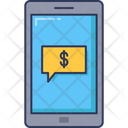 Online Payment Mobile Phone Banking Icon