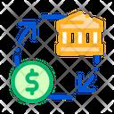 Bank money transaction Icon