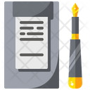 Clipboard Credit Card Pen Icon