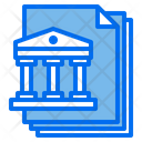 Bank Files Paper Icon