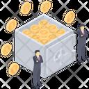 Bank Safekeeping Vault Icon