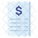 Bank Slip Financial Document Bank Document Icon