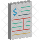 Bank Statement Bill Invoice Icon