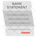 Bank Statement Account Statement Bill Icon