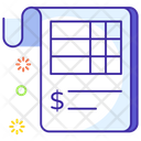 Bank Statement Bank Slip Voucher Icon