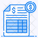 Bank Statement Balance Sheet Legal Statement Icon