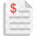 Bank Statement Invoice Icon