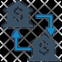 Bank Money Transfer Transaction Bank Icon