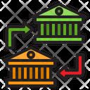 Bank To Bank Bank Transfer Icon