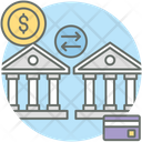 Bank Transfer Payment Gateway Banking Transactions Icon