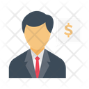 Banker Employee Manager Icon