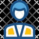 Banker Female Receptionist Icon