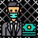 Banker Accountant Man Icon