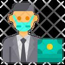 Banker Avatar Mask Icon