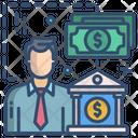 Banker Accountant Bank Man Icon