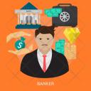 Banker Human Profession Icon