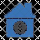 Banking Dollar House Icon