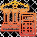 Banking Building Calculator Icon