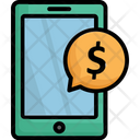 Banking Chat Bubble Mobile Marketing Icon