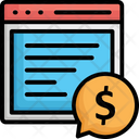 Banking Chat Bubble Communication Icon