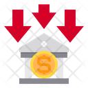 Bank Currency Down Icon