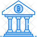Banking On Bitcoin Bank Finance Icon