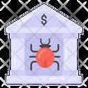 Banking Bug Banking Virus Infected Bank Icon