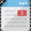 Banking Website Business Website Economic Website Icon