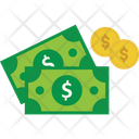 Banknotes Currency Dollar Coins Icon