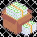Banknotes Box Cash Box Money Box Icon