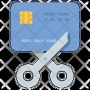 Bankrupt Card Scissors Icon