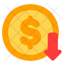 Bankruptcy Loss Coin Icon