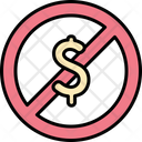 Banned Prohibited Dollar Icon
