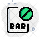 Banned Rar File Icon