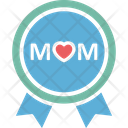 Banner Heart Logo Mom Love Icon