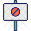 Banner Disagree Placard Icon