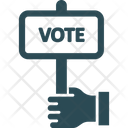 Banner Hand Holding Card Supporter Icon