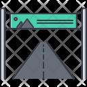 Banner Road Design Icon
