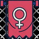 Banner Female Symbol Flag Icon