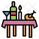 Banquet Food Table Icon