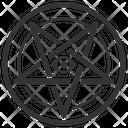 Baphomet Laveyan Pentagram Icon