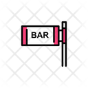 Bar Bar Sign Board Board Icon