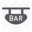 Bar Signboard Decoration Icon